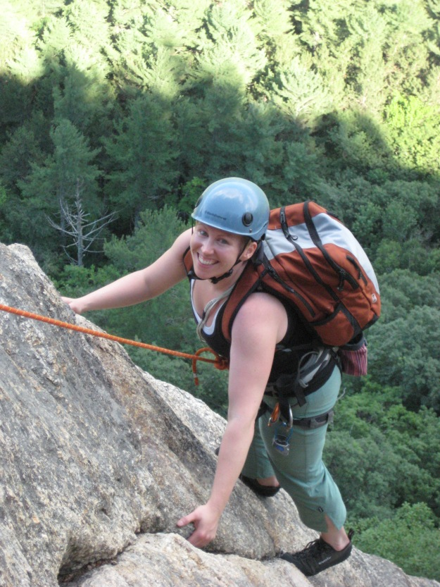 Climbing Cathedral Ledge in NH in 2008