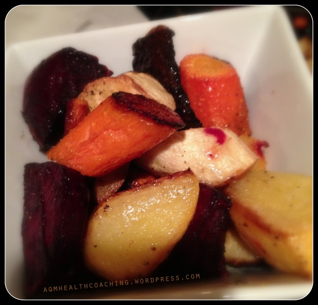 Roasted vegetables don't taste healthy.