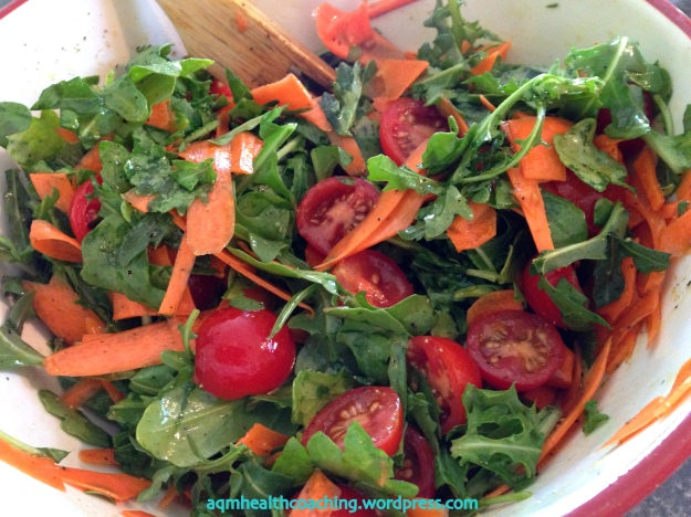 Arugula salad -a simple and quick way to get a spicy new green into your diet.