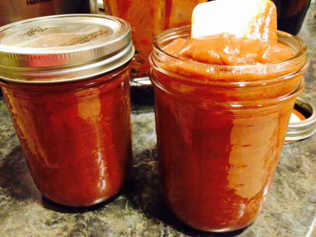 Healthier Apple Butter - no refined sugar! Sweetened with just a few dates!