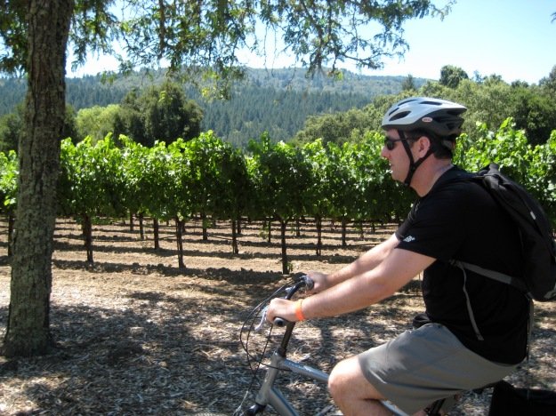 My cutie pie husband biking in Calistoga, CA in 2011.