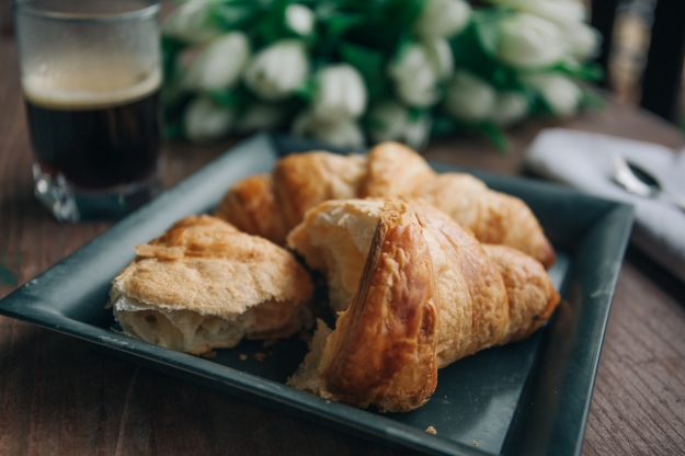 "This croissant is not ""bad"" and you are not ""bad"" if you eat it. It's just food and eating one of them is not going to alter your body in a significant way. You can enjoy it freely."
